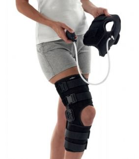 Orteza de genunchi fixa/mobila Donjoy Everest si pachet de gel